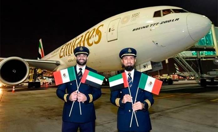 Vuelo de Emirates Airlines aterriza en México