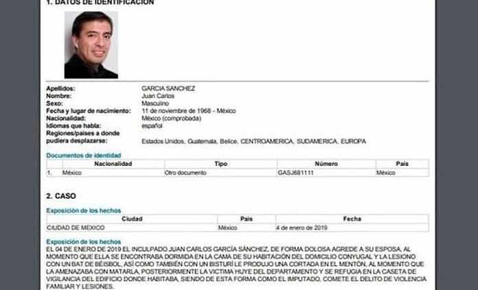 Interpol emite ficha roja por el exesposo de Abril Pérez