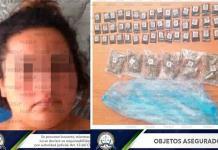 Mujer es detenida con 51 bolsitas de mariguana