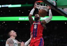 Pistons ponen fin a racha de derrotas ante los Celtics