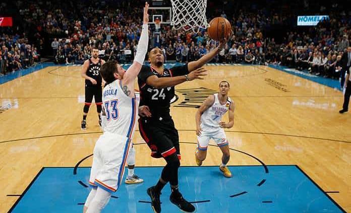 Raptors resisten y superan a Thunder