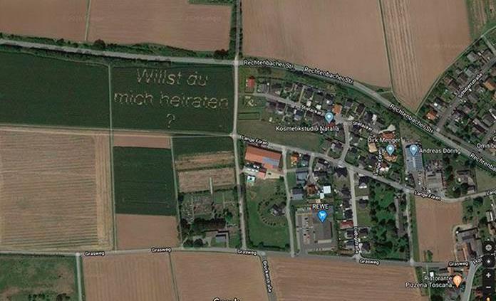 Propuesta matrimonial aparece en Google Maps