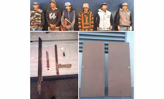 Capturan a seis jóvenes por robo a casa habitacións