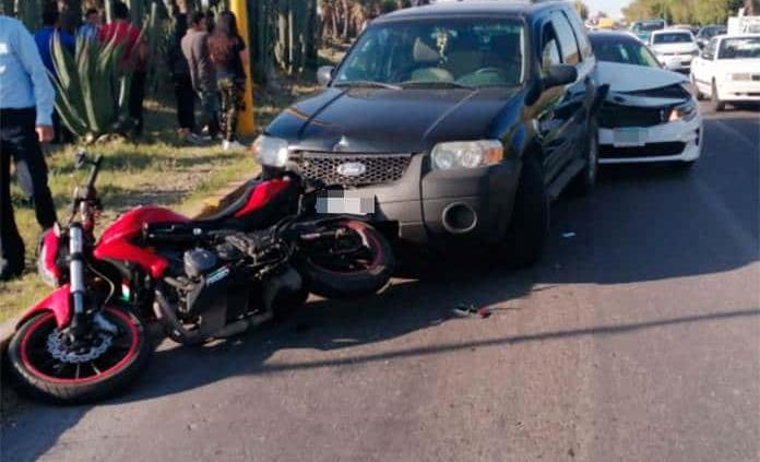 Carambola en bulevar San Luis deja un lesionado