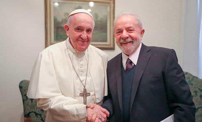 Francisco recibe a Lula da Silva