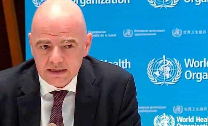 Ayuda FIFA con 10 mdd a la OMS por Coronavirus