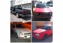 Policía Municipal asegura 4 autos robado