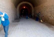 Limpian y sanean el túnel Ogarrio