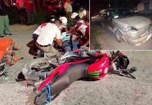 Conductora invade carril y arrolla a un motociclista