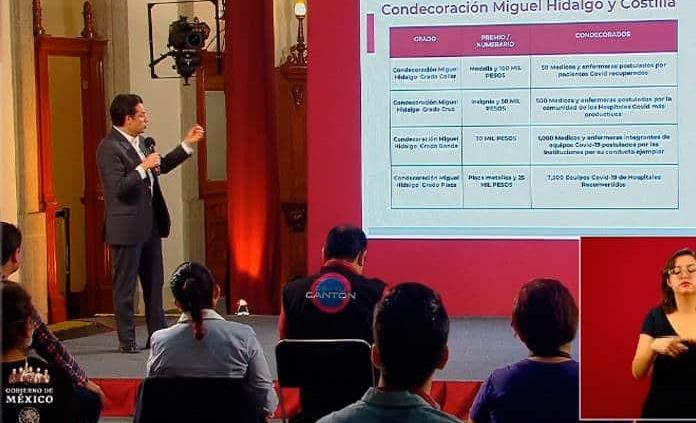 Personal médico será reconocido con Condecoración Miguel Hidalgo
