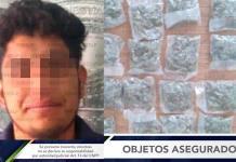 Sujeto es detenido con dosis de marihuana