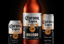Lanza Corona cerveza con 1.8 grados de alcohol