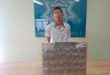 Cae sujeto con 28 bolsas con marihuana en Soledad