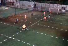 Partido de futbol con sana distancia se hace viral (VIDEO)
