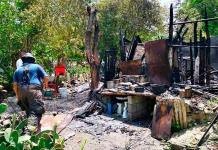 Fuego consume una casa en colonia La Pimienta de Ciudad Valles