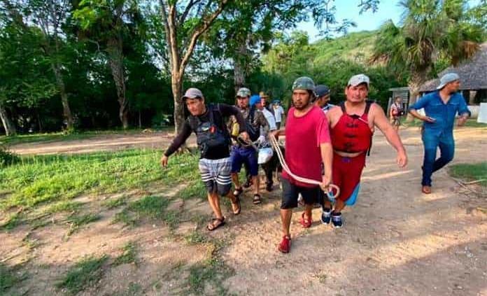 Reconocen labor de rescatistas en Aquismón y exhortan a evitar riesgos en parajes