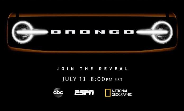 La red Disney presentará la Ford Bronco el 13 de julio