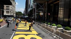Nueva York pinta un mural de Black Lives Matter frente a la Torre Trump