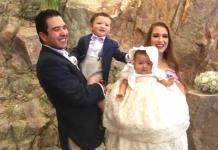 Loretta Mendizábal Puente recibió el bautismo