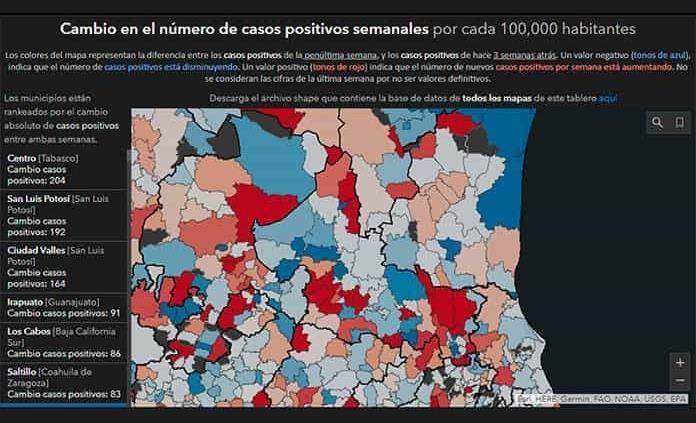 """SLP tiene 3 municipios en """"top ten"""" de Covid-19"""