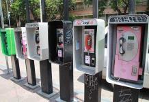 Retiran teléfonos públicos no autorizados en el Centro Histórico