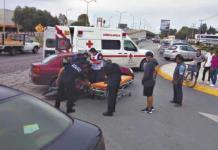 Motociclista resulta lesionado tras chocar