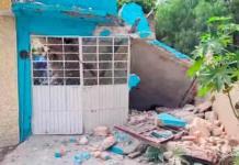Muere hombre en derrumbe de vivienda en la colonia Polanco