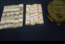 Atrapan a sujeto armado y con más de 500 mil pesos