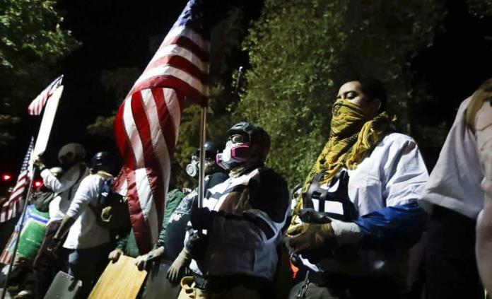 Protesta pacífica en Portland ante retirada de federales