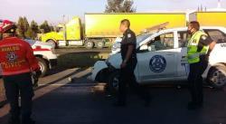 Tres heridos, saldo de fuerte choque en la carretera a México