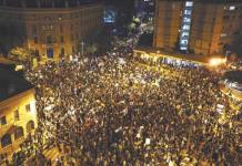 Miles protestan contra Netanyahu