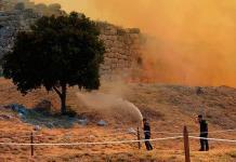 El sitio arqueológico de Micenas escapa de la destrucción en un incendio forestal