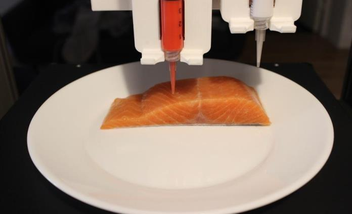 Una start-up austríaca imprime salmón vegano