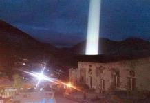 Extraño fenómeno de luz impacta en el Pueblo Mágico