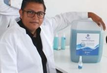 UG desarrolla súper desinfectante contra coronavirus