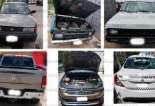 Recupera la Fiscalía doce vehículos robados