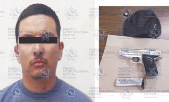 En Villa de Ramos, arrestan a pistolero