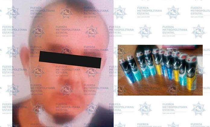 Individuo pretendió robar desodorantes