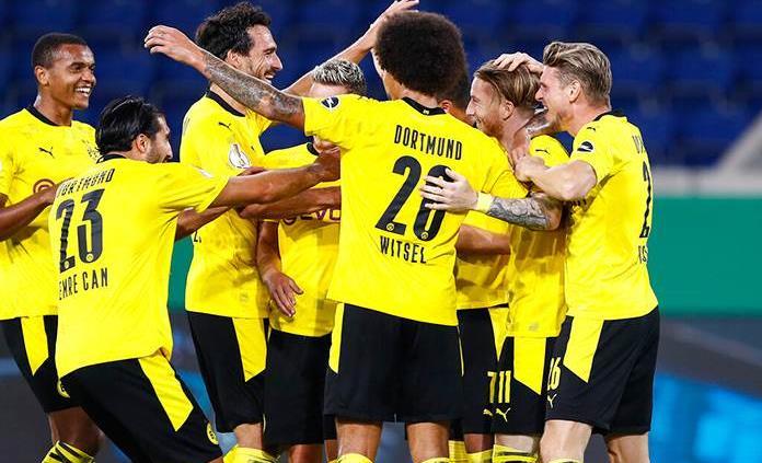 El Dortmund golea 5-0 al Duisburg en primera ronda de la Copa Alemana