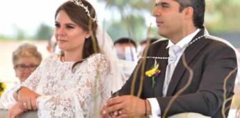 María Teresa Urriza Somohano y Guillermo Espinosa Abaroa efectuaron sus esponsales