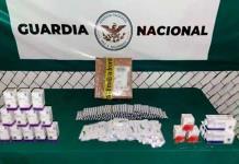 Decomisan 2 mil 760 tabletas y 90 cápsulas de medicamento controlado en aeropuerto de SLP