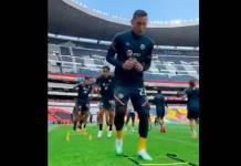América entrena en el estadio Azteca y prepara el Clásico Nacional