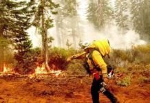 Bomberos salvan de las llamas observatorio en California