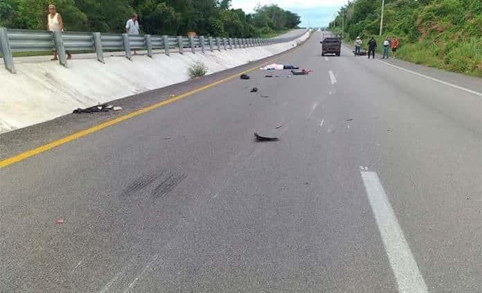 Fallece mujer embarazada en accidente de motocicleta