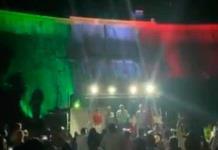 Alcalde celebra Grito de Independencia en la presa La Boquilla