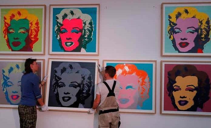 Exposición del icono del pop art Andy Warhol desembarca en Moscú