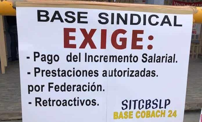"""Exigen """"profes""""sindicalizados de Cobach pago de prestaciones"""