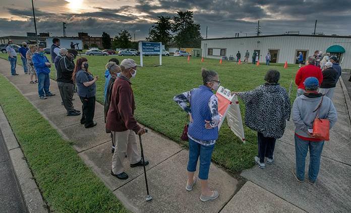 Accidente interrumpe el registro de votantes en Virginia