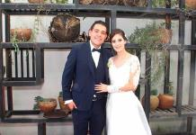 Fernanda Cadena Cardone y Andrés Rodríguez Robledo felices en su matrimonio civil