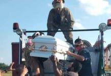Bomberos cumplen último deseo de niño fallecido por leucemia en Tamaulipas